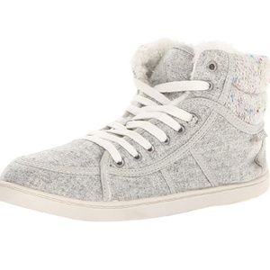 Roxy Light Gray High Top Wool Philly Sneakers 8